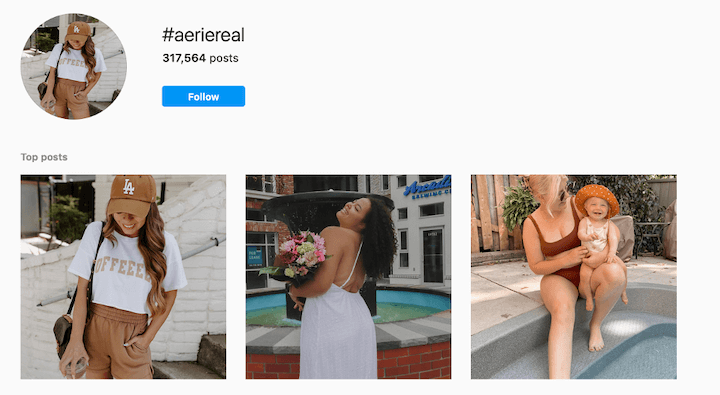 aerie user generated content on facebook