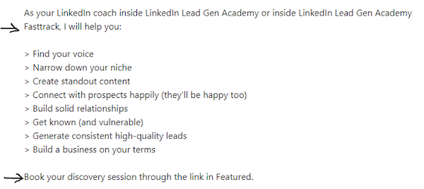 Generate leads linkedin about 2