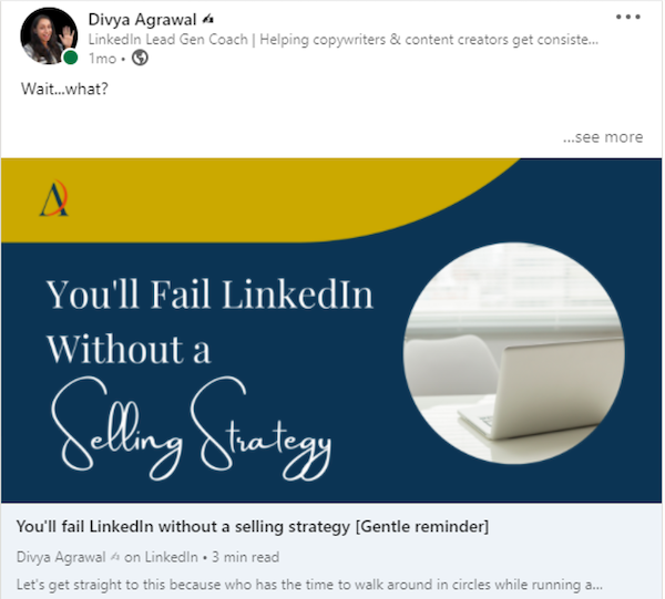 Generate leads linkedin content