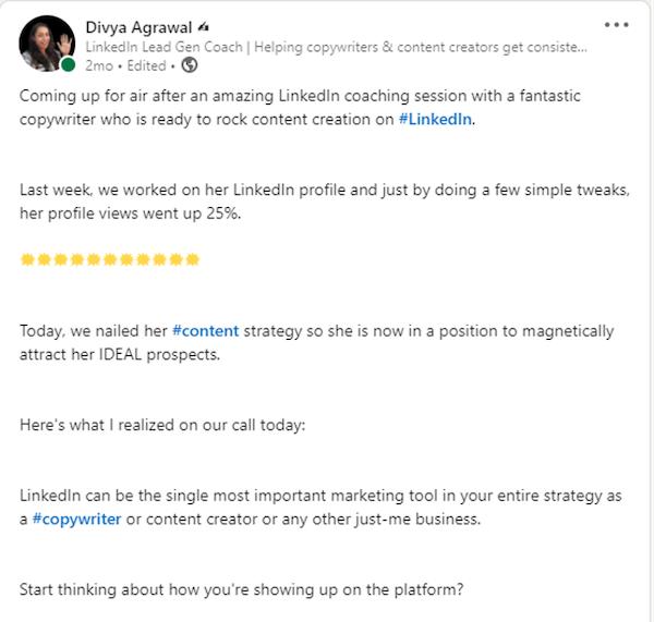 Generate leads linkedin post 3