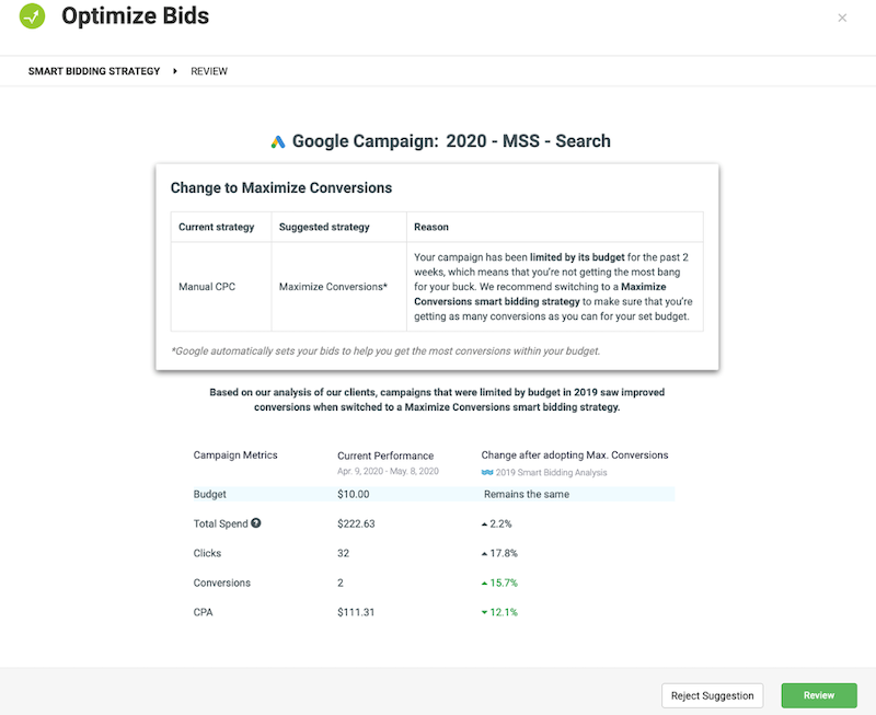 google ads automated bidding optimize bids alert 20 minute work week
