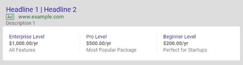 如何通过google Adwords广告价格扩展提高性能