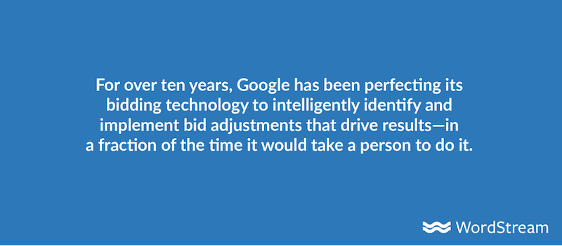 google automated bidding intelligence