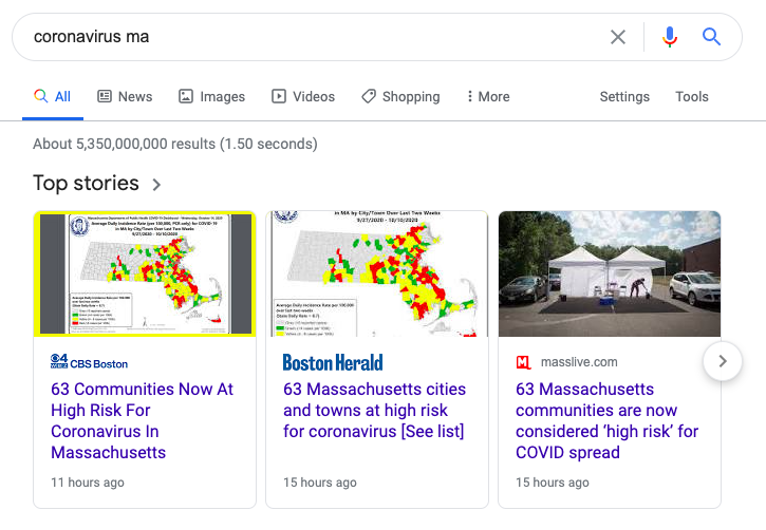 google page experience algorithm update core web vitals impact to top stories