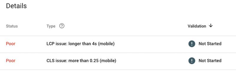 algoritmo de experiência da página do google atualização do núcleo da web vitals pobres