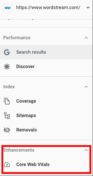 console de pesquisa do modelo de experiência da página do google