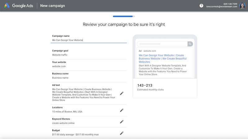 google-ads-setup-review-campaign