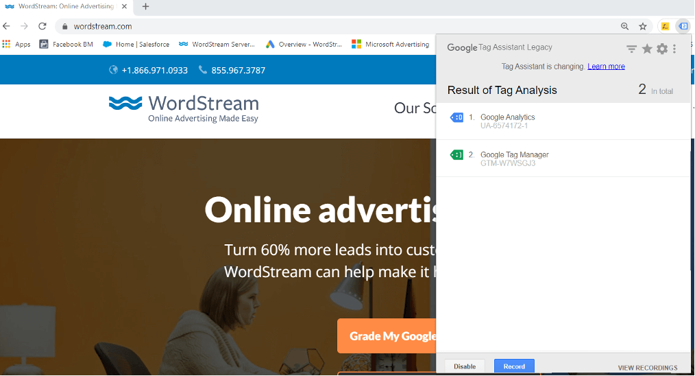 use google tag assistant for google ads conversion tracking