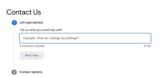 google ads support form