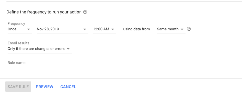 Google Ads Holiday Automation Pause