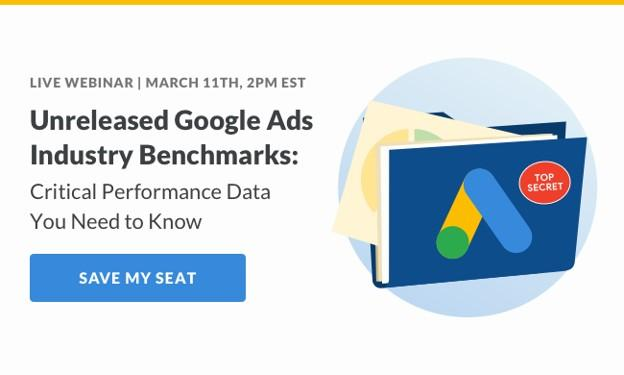 Google Ads Industry Benchmarks Webinar