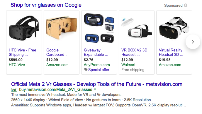 Google Ads Networks VR Glasses