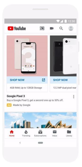 Google Discovery ads carousel example
