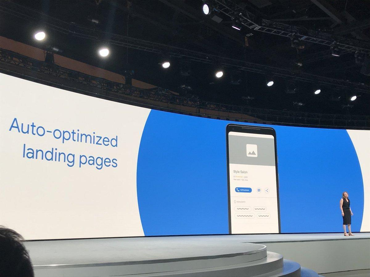 Google Marketing Live 2018 Landing Pages