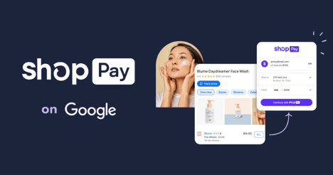 shopify's shop pay now available on google