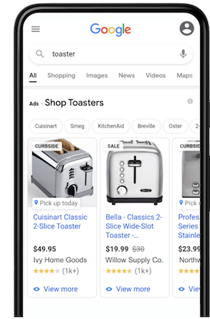 google local inventory ads with curbside and pickup now labels