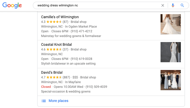google my business optimization photos showing up in local results