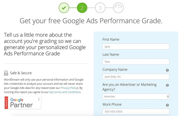 WordStream Google Ads Grader now with Google Shopping help!