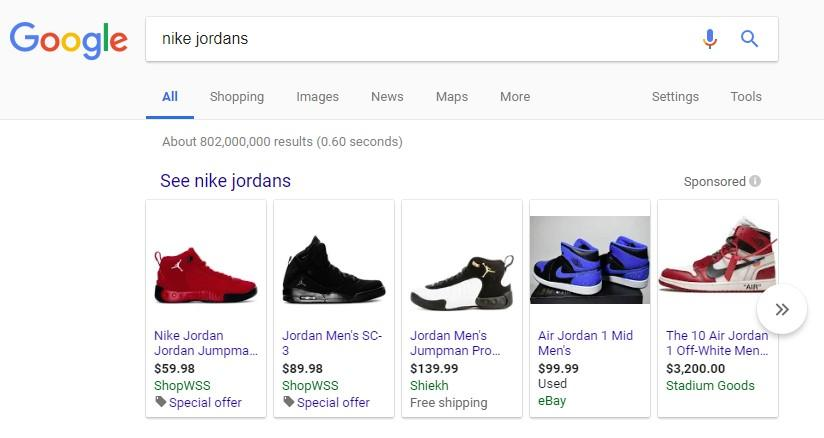 Google shopping reviews SERP