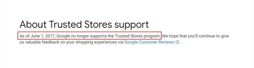 Google shopping reviews trusted stores