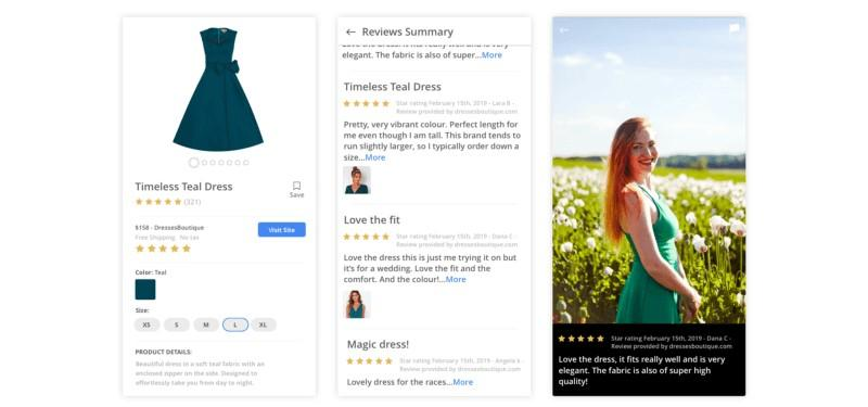 Google Shopping review with user-generated image