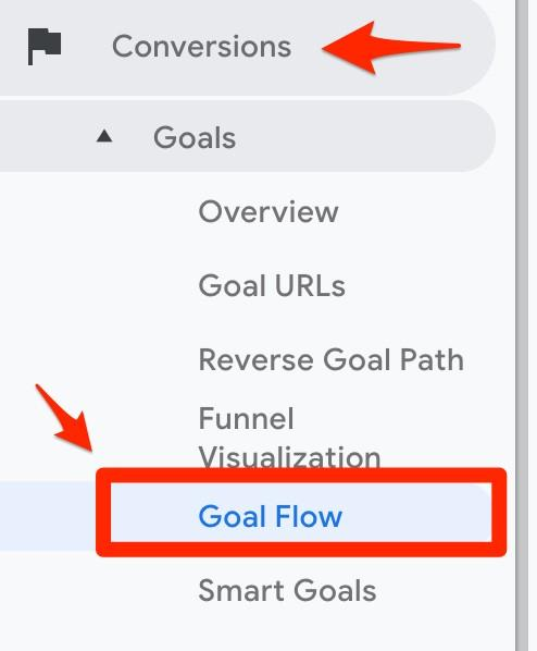 select Goal Flow in Google Analytics