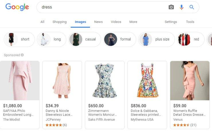 google-vs-amazon-shoppable-image-results