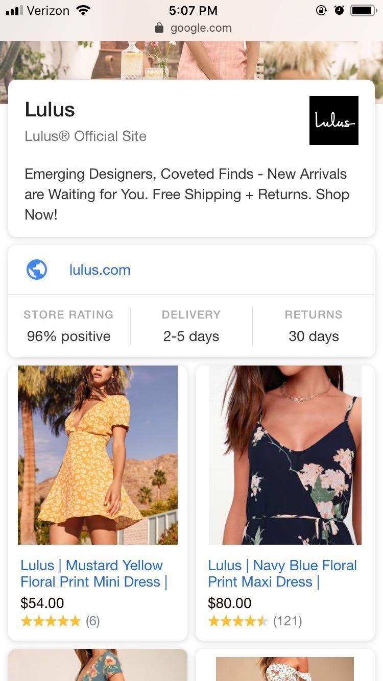 google-vs-amazon-showcase-shopping-ad-lulus-example