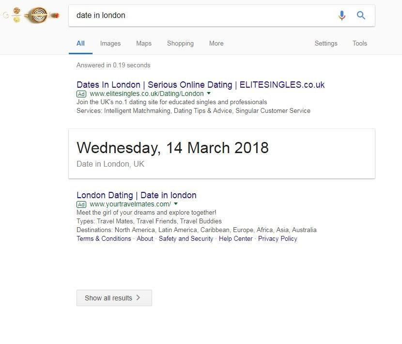 Google Zero Search Results Date