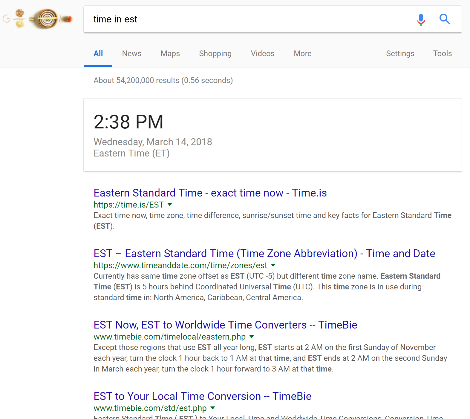 Google Zero Search Results Time Query 2