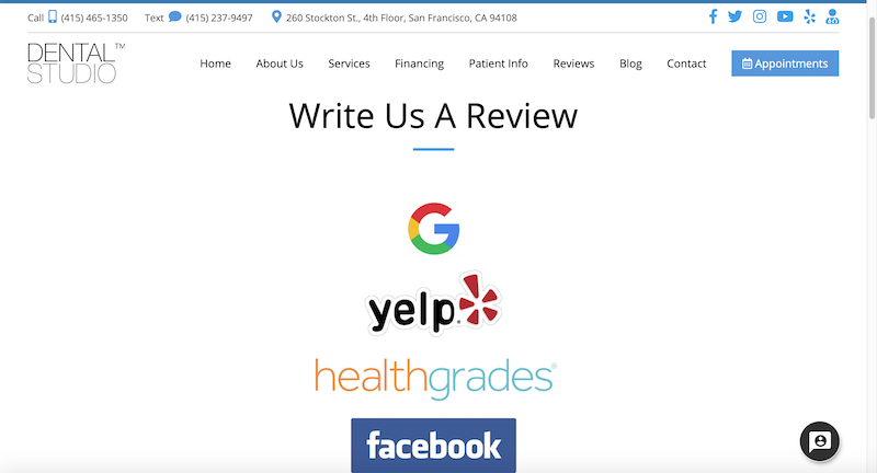 how to ask for reviews dental studio