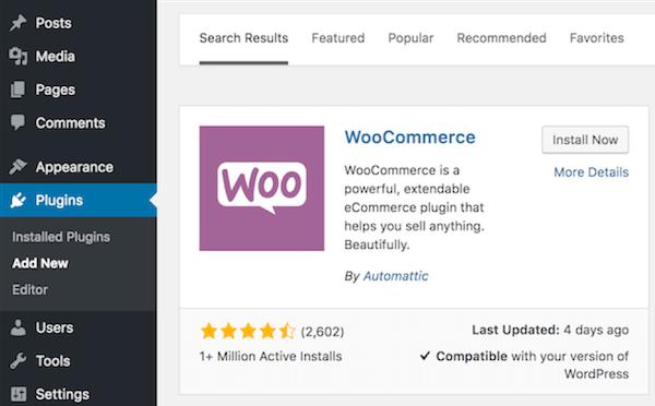como criar um site de comércio eletrônico woocommerce