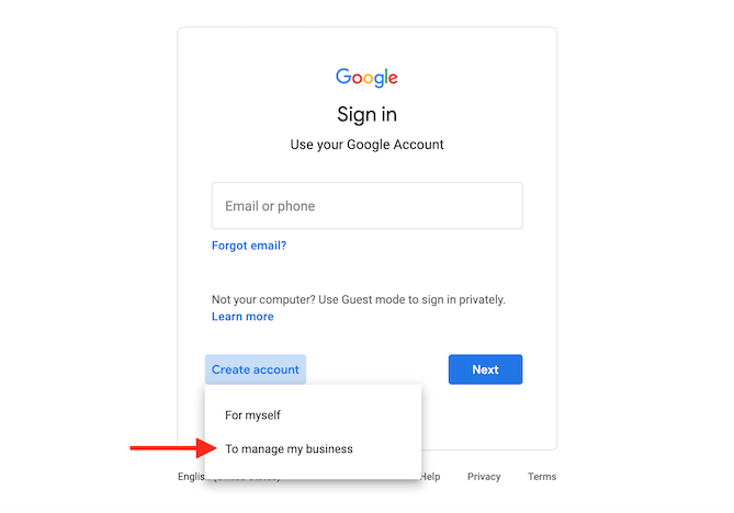 how to create and verify google my business account manage a business