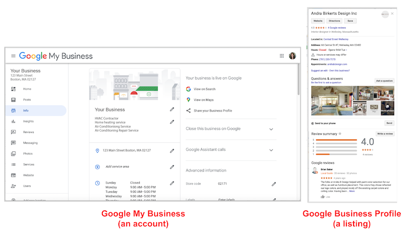 how to create and verify your google my business account account vs listing