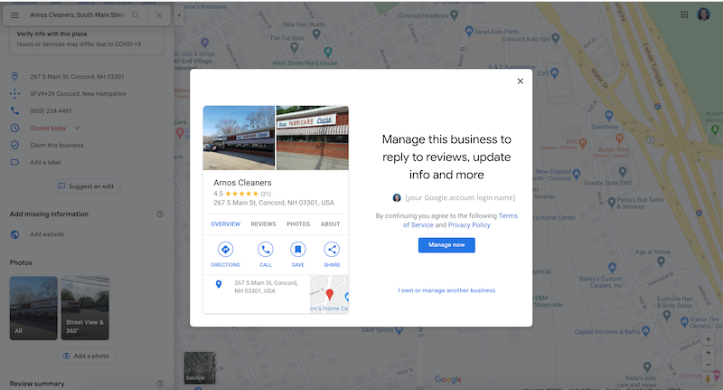 how to create and verify your google my business account manage this business google maps