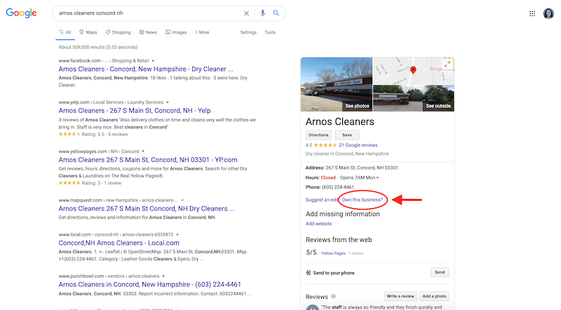 how to create and verify your google my business account own this business arnos cleaners