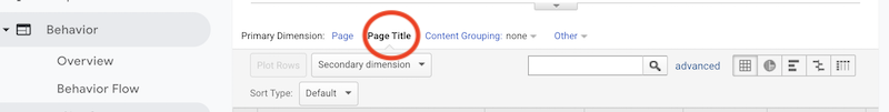 how to find broken links in google analytics page title
