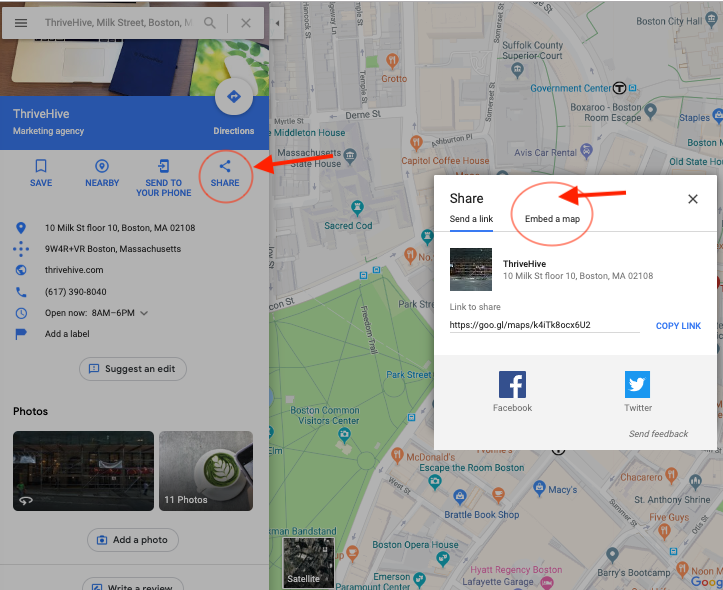 how to rank higher on google maps embed map