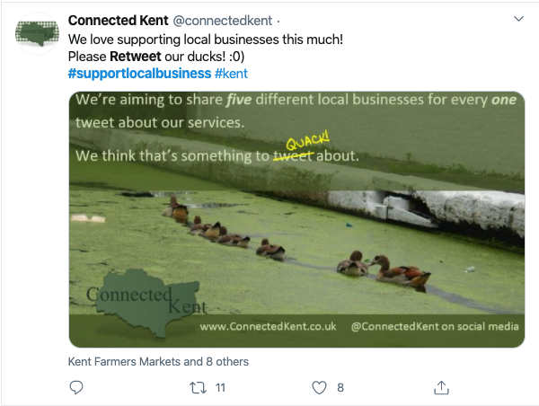 how to reach audience on twitter during COVID connected kent