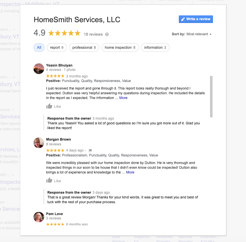 how to use google my business for seo respond to reviews