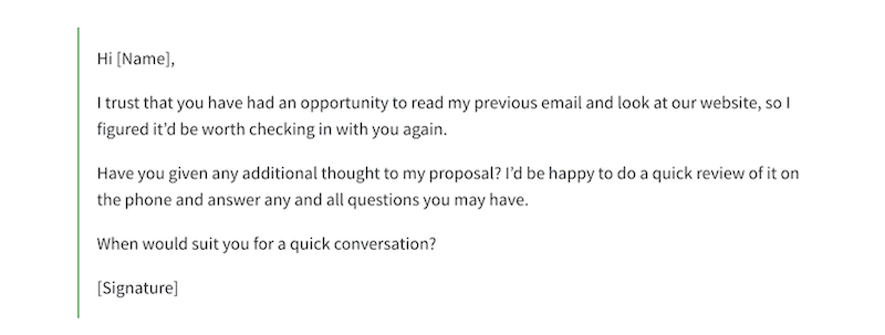how to follow up with sales leads follow up email