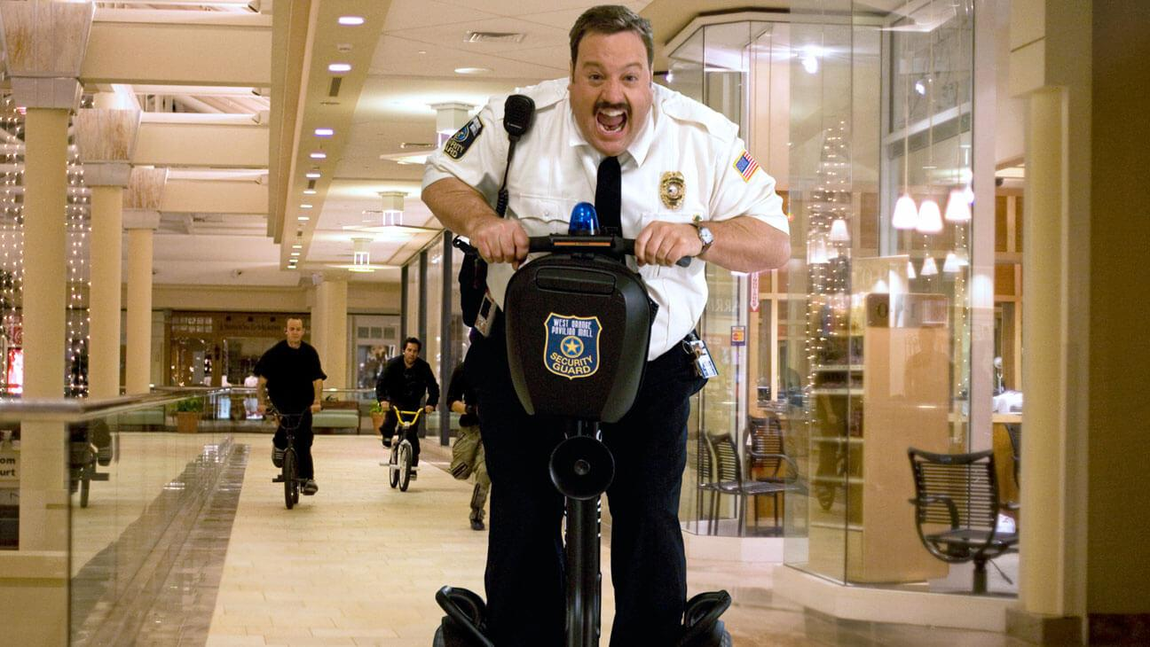 how to market a product mall cop scene