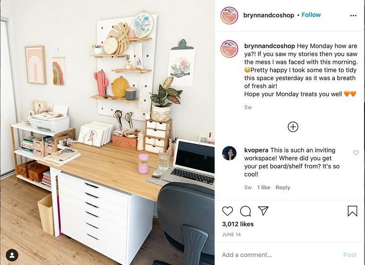 etsy social media example