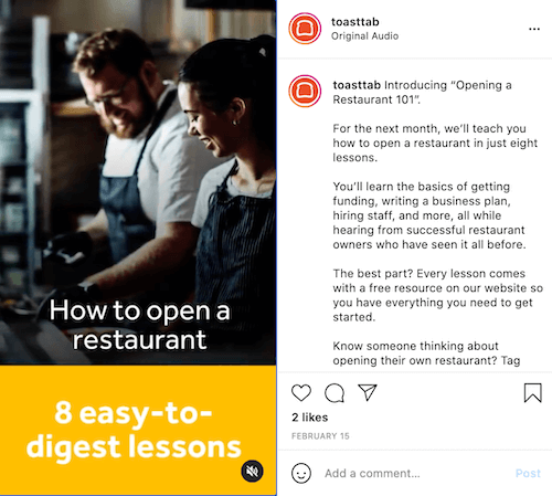 instagram reels ideas for business—how-to reel example