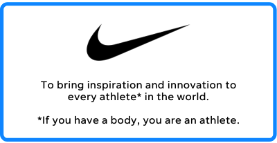 nike's business mission statement
