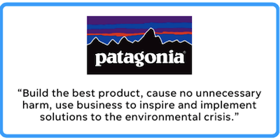 patagonia's business mission statement