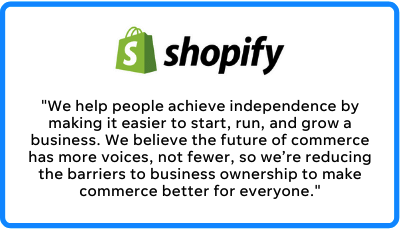 shopify's mission statement