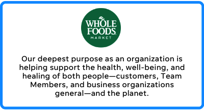 whole foods business mission statement