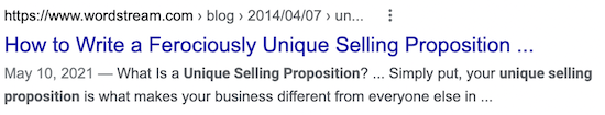 """example of copy that sells—blog title using """"ferociously"""""""