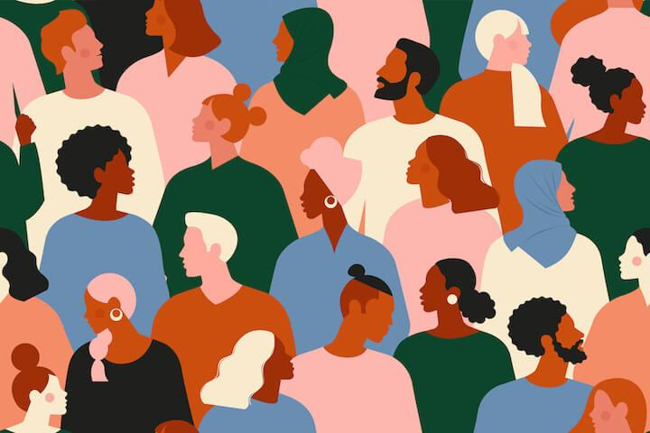 diversity in marketing—diverse crowd of people
